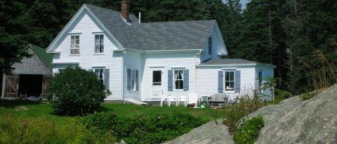 Granite Island Farmhouse Vacation Rental in Vinalhaven Sleeps:9 guests in 5 bedrooms: 4 double beds and 1 twin Price: June & September: $1,500/week July & August: $1,700/week Cleaning Fee: No Wi-Fi: Highspeed Internet TV: No Pets: are welcome with an additional fee of $100/week